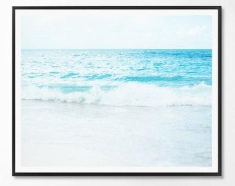 Beach Print, Contemporary Art, Coastal Decor, Coastal Art, Ocean Water Photo, Beach art, Sea print, Minimalist, Landscape, Scandinavian Art
