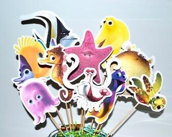 Disney Nemo Friends Set of 10 Centerpiece Picks (Double-Sided)