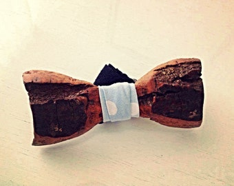 Wood bow tie handcrafted