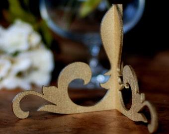 Golden table number holder, Wedding menu holder, Table number stand, Wood table number holder, Card holder, Wedding table decor, TNH-1