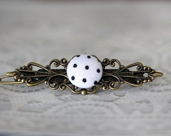 DOTS IN hair Barrette vintage hair accessories
