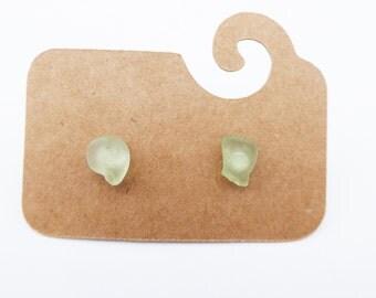 Sea Glass Sterling Silver Earrings #40