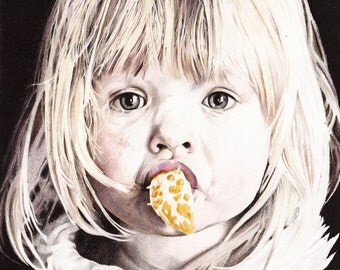 Want Some Orange? - Colored pencil drawing