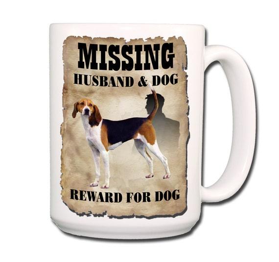 Treeing Walker Coonhound Husband Missing Reward Large 15 oz Coffee Mug
