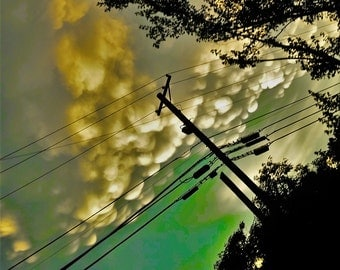 Digital Print Abstract Power Line