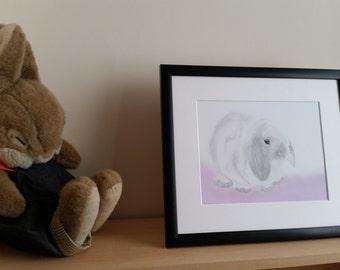 Bunny design 3 half pastel