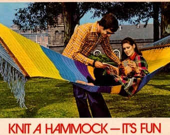 1970s Knitted Hammock Instant Download PDF 2 pages