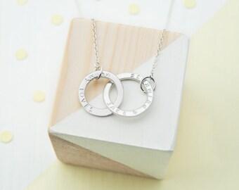 Personalised Handmade Necklace For Mummy, Mum Necklace, Baby Name Necklace, New Mum Gift, Gift For Mummy, Gift For Mum, Mummy Jewellery