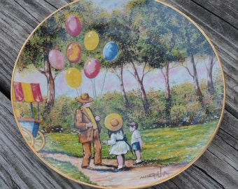 "Vintage collectors plate ""The Balloon Man"" Mingolla,Home decor,Childs Bedroom Decor,Play room decor,Pediatrician office decor,"