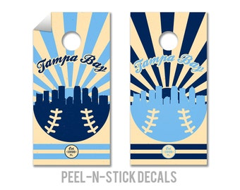 Tampa Bay Rays Cornhole Board Decals
