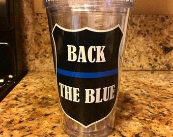 Back The Blue Tumbler