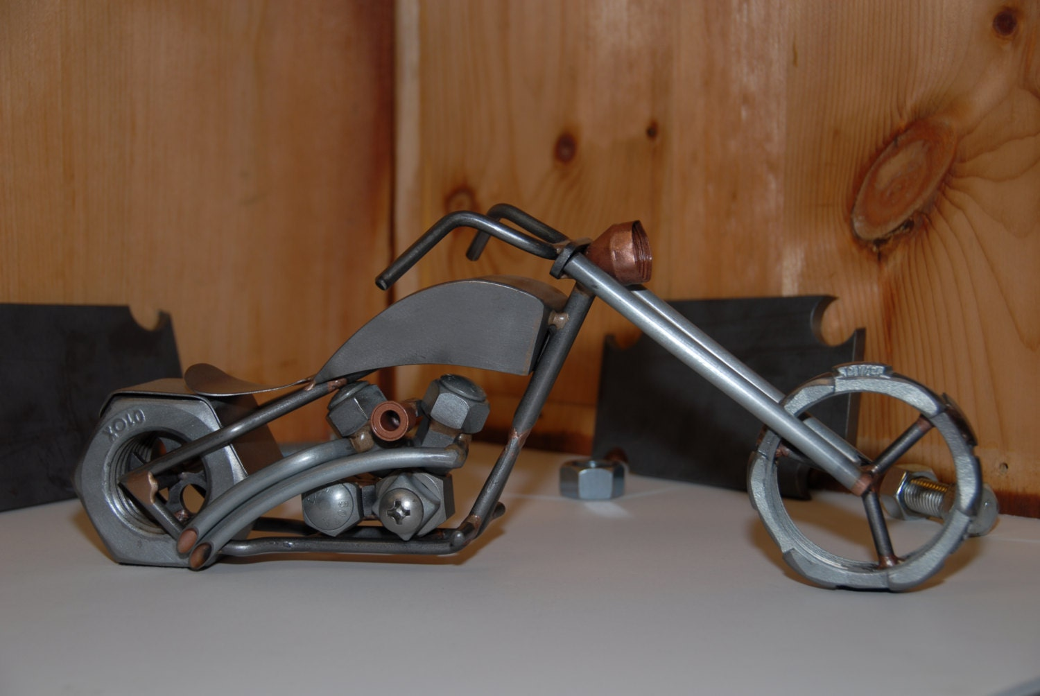 Scrap Metal Chopper Scrap Metal Motorcycle By