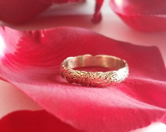 Flower and Scroll Ring