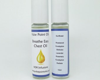 Breathe Easy Chest Rub Oil. Best decongestant. Blocked sinus natural cold relief, cold remedy. bedtime cold relief massage. Eucalyptus oil