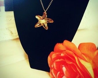 Ladies gold statment necklace