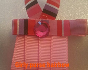 Girly purse hairbow