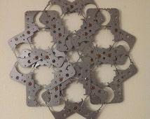 Industrial wall art - upcycle sculpture - metal art - Repurposed