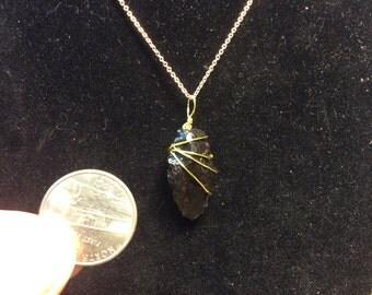 Mahogany obsidian arrowhead pendant