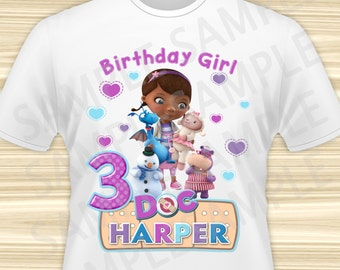 Doc McStuffins Iron On Transfer. Doc McStuffins Birthday Iron On Transfer. Doc McStuffins Birthday Shirt. Doc McStuffins Party. DIGITAL FILE