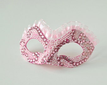 "Mardi Gras Mask!  Masquerade Mask, Venetian Carnival, Mask on a Stick, Mascarade Mask - The ""Loretta"""
