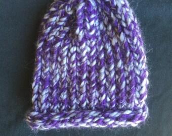 Knitted newborn baby hat