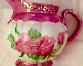 Rose pink pitcher