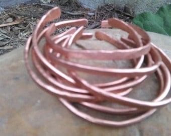 24 Copper Hammered Bangles