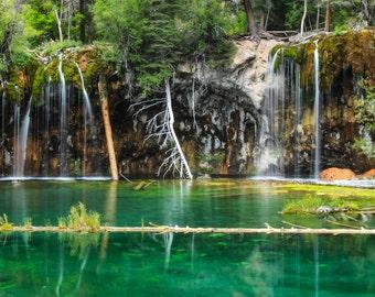 Landscape Photography - Hanging Lake Colorado - Wall Art - Photos of Colorado - Landscape Photography - Melissa Stringer -Lake - Canvas
