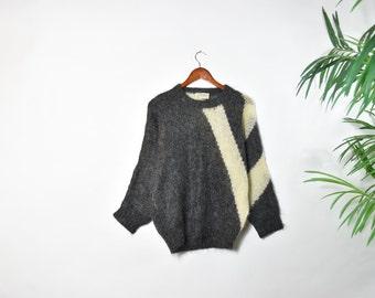 Vintage 70's Abstract Virgin Wool Sweater