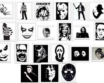 Halloween Horror movie Villain Pack SVG Cut Files Instant Download