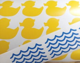 15 rubber ducky decal duck vinyl wall decals duck wall art removable bathroom