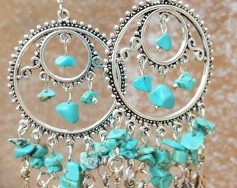 Earrings turquoise 925 Silver earrings turquoise