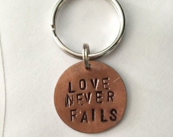 Love Never Fails - Keychain