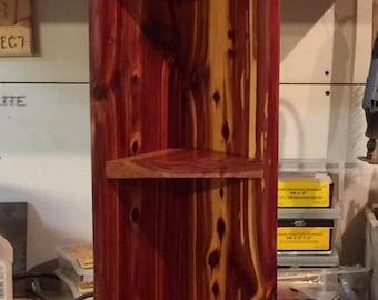 Red Cedar Corner/Wall Shelf