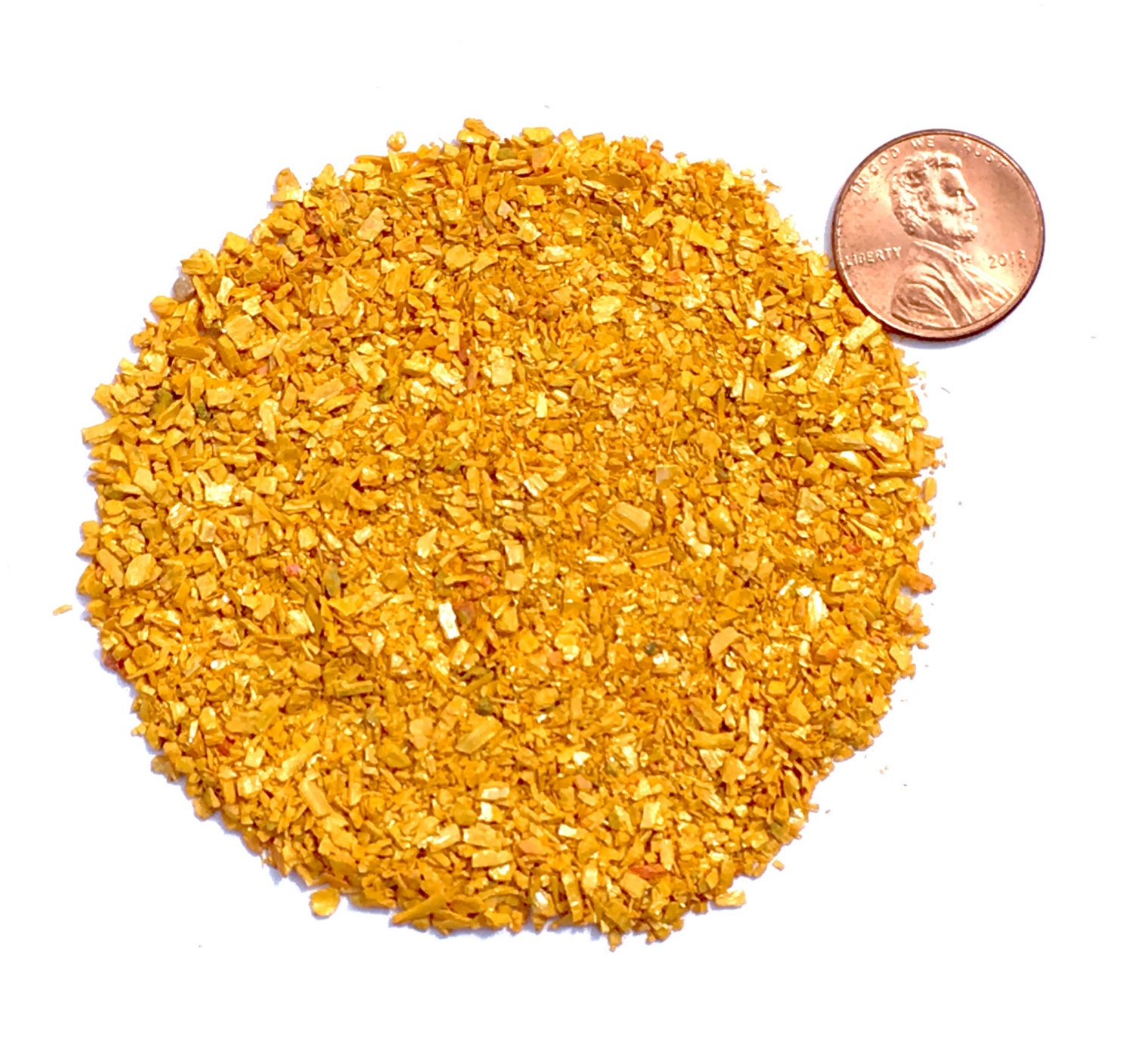 Crushed Gemstone For Inlays : Crushed orpiment stone inlay medium ounce