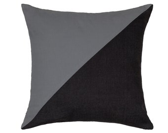 """18""""X18"""" Charcoal & Gray Cushion / Throw Pillow Cover"""