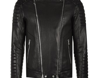 Malibu Thick Lamb Leather Biker Jacket