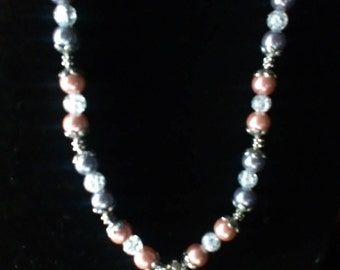 Beautiful beaded Imitation Pearl necklace with Angel pendant