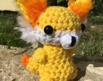 Fennekin amigurumi crochet pokemon go chibi stuffed animal toy plushie plush
