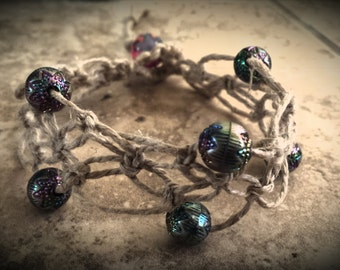 Lace beaded bracelet