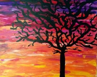 Sunset - Tree Silhouette