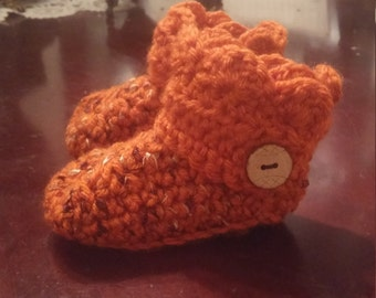 Fall Newborn to 3 months Baby Booties