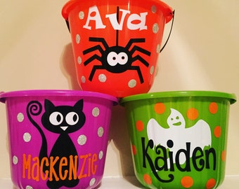 Personalized Halloween Buckets