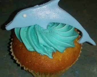 12 x Dolphin Cupcake Toppers