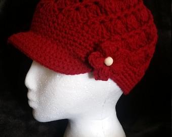 Crochet twist hat