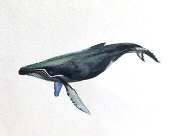 """Humpback Whale #1, 4""""x4"""""""