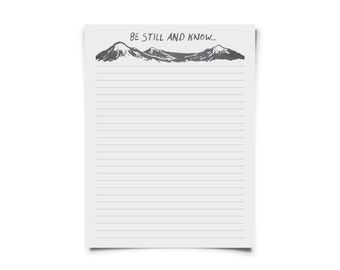 Be Still Printable Stationary Set for Letters & Snail Mail