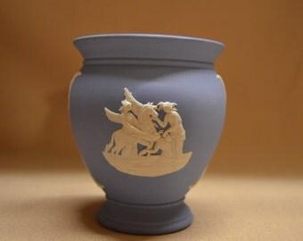 Vintage Wedgwood Blue Jasperware Vase