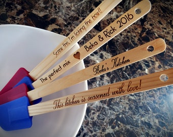 1 Engraved Spatula, Personalized gift, Gift For Mom, Gift for Grandmother, Wedding Party, Custom Gift, Valentines Day, Housewarming Gift,