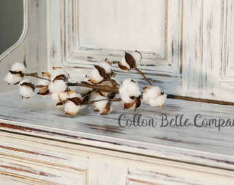 Cotton Spray, cotton stems, cotton, cotton bolls, faux cotton, cotton branches